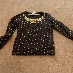 Crewcuts polka dotted sweatshirt with beads